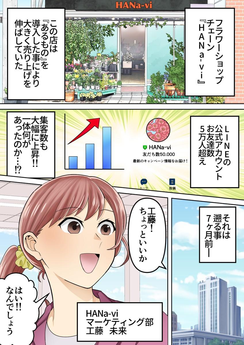 フラワーショップ ミニアプリ導入事例-前編